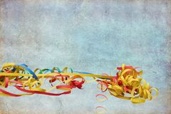 Streamers for postcard and invitation. Colorful streamers for postcard and invitation royalty free stock photography