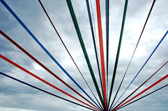 Streamers in the Sky Royalty Free Stock Images