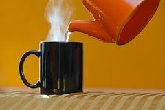 Streamin hot tea cup Stock Photo