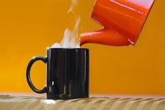 Streamin hot tea cup Royalty Free Stock Photos
