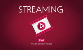 Streaming Audio Video Listening Multimedia Concept Royalty Free Stock Photography
