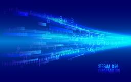 Free Streaming Binary Code. Abstract Technology Background. Royalty Free Stock Image - 130678376