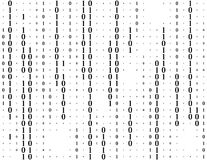 Streaming binary code vector background. Coding or Hacker concept. Data and technology, decryption and encryption Stock Photography