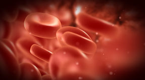 Streaming blood cells. In vein Royalty Free Stock Images