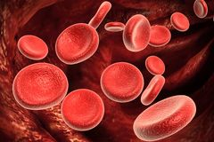 Streaming blood cells Stock Image