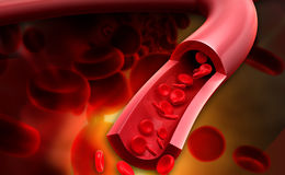 streaming blood cells stock illustration