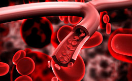 Streaming blood cells Royalty Free Stock Photography