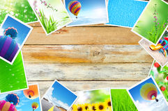 Streaming images on wood Stock Photos