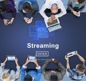 Streaming Internet Computer Media Transfer Data Concept Royalty Free Stock Images
