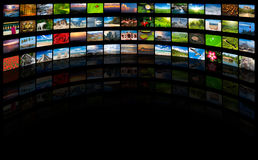 Streaming media concept. Multimedia background with copyspace Royalty Free Stock Photo