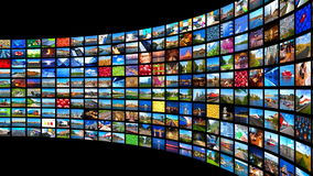 Streaming media concept stock video footage