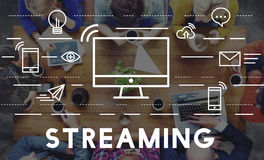 Streaming Media Digital Electronic Technology Concept Stock Images