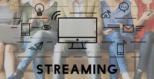 Streaming Media Digital Electronic Technology Concept Royalty Free Stock Photo