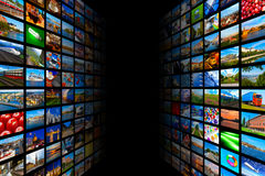 Streaming media technology and multimedia concept Stock Images