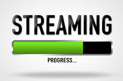 Streaming progress Stock Photo