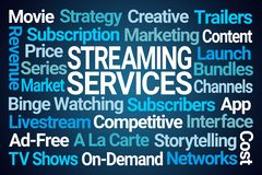 Streaming Services Word Cloud stock illustration