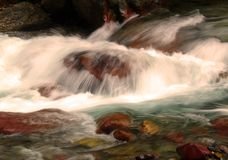 Streaming Water 11. This image of the small stream taken at slow shutter speed was shot in western MT Royalty Free Stock Photography