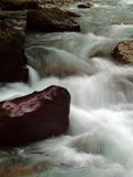 Streaming Water 9. This image of the small stream taken at slow shutter speed was shot in western MT Royalty Free Stock Image
