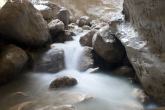 Streaming water in Saklikent canyon Royalty Free Stock Photo
