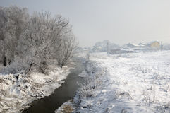 Streamlet near Sofia, Bulgaria - winter picture stock images