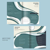 Streamline bi-fold brochure Royalty Free Stock Image