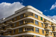 Streamline Moderne style building. A new building in streamline moderne style, alluding to the part of the Art Deco movement from the early XX century, in Berlin Stock Photography