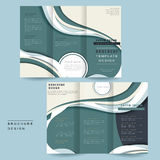 Streamline tri-fold brochure Stock Photos