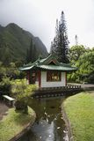 Streamm que conduz ao pagoda. Fotos de Stock Royalty Free