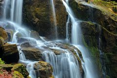 Streams and cascades of waterfall stock image