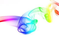 Streams of colored smoke Royalty Free Stock Photography