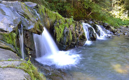 Streams fall from rock Stock Photography