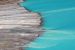 Streams feed Peyto Lake Royalty Free Stock Photos