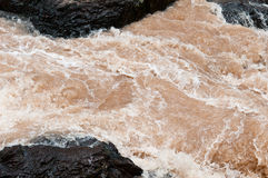 Streams flowing strongly. Royalty Free Stock Photo
