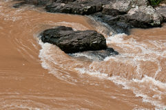 Streams flowing strongly. Royalty Free Stock Photos