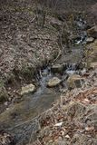 Rolling Streams of Wv after winter run off. The streams, that generally can almost be dry in mid summer, will flow with the winter and spring water run off from royalty free stock photo