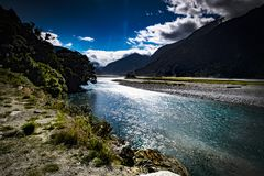 Streams and lakes of New Zealand, mountains and tranquil scenes, New Zealand d.y. Streams and lakes of New Zealand, mountains and tranquil scenes, New Zealand 1 royalty free stock photo