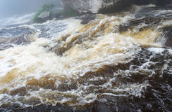 Streams Rapid flow of water. Rapid flow of water In streams From the mountains Royalty Free Stock Images