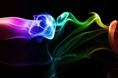 Streams of a smoke Royalty Free Stock Photography