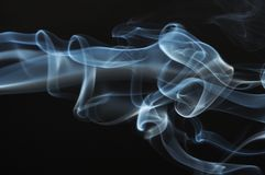 Streams of a smoke Royalty Free Stock Images