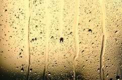 Streams and water drops on glass Royalty Free Stock Images
