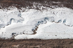 Streams winding through the Gorner glacier Stock Image