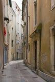 Streatscape in Nîmes, Frankrijk Royalty-vrije Stock Foto's