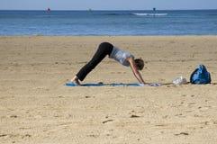strech пляжа Стоковая Фотография RF