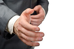 Streched hand Stock Photography