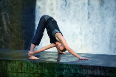 Streching  in nature Royalty Free Stock Images