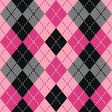 Streckade Argyle i rosa färger Royaltyfri Bild