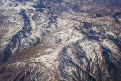 Strecke der Anden zwischen Argentinien und Chile Stockfoto