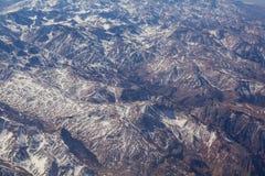 Strecke der Anden zwischen Argentinien und Chile Lizenzfreies Stockfoto