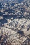 Strecke der Anden zwischen Argentinien und Chile Stockfotos