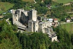 Strecno城堡,斯洛伐克 库存图片